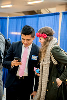 BYU-Idaho students attend the career fair. Students can find potential jobs and internships for their prospective majors at the fair.