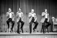 The barbershop quartet sings a number at the Banquet