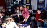 Student teachers practice in the classroom. March 6, 2002.