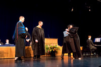 BYU-Idaho graduates from the College of Performaing and Visual Arts convocation receive their diplomas.