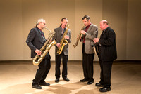 Mark Watkins and his saxophone quartet. 2017