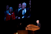 BYU-Idaho Devotional. President Henry J. Eyring introducing guest speaker, Neill F. Marriott. Feb 2018