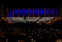 An All Men's Choir presents the musical number for devotional. the Choir will be singing during the Priesthood session of General Conference in April.