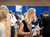 Students are invited to go to the Career Fair, October 12, 2017 to meet with businesses and colleges for jobs and education after graduation.
