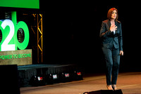 Kim Flynn (a business consultant, bestselling author, entrepreneur, and national speaker) speaks at Power to Become.