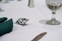 An arrangement of silverware and a Mint Truffle on table at PAC in the MC.