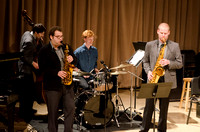 The small Jazz Band performs at the Music Department Showcase.