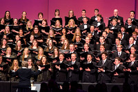 The Brigham Young University-Idaho combined choir sing at devotional. Photo by Ryan Chase.
