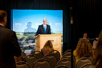 President Henry J. Eyring attends a press conference after his Inauguration as president of BYU-Idaho.