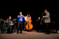 The quintet includes Jay lawrence (drums), Ryan Nielsen (trumpet), Mark Watkins (saxophone), Aaron Miller (bass), and Justin Nielson (piano).