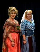 Ladies of the Theater Department dress up for Halloween. Patty Randall and Judy Wilkins