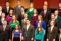 Brigham Young University-Idaho's Collegiate Singers perform at the Worldwide Devotional held in the BYU-Idaho Center on Sunday, 11 January, 2015. Photo by Ryan Chase