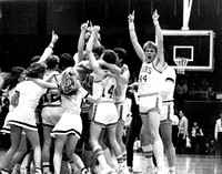 Jubilation after winning first-ever regionals in Rexburg in 1984. Player at the right is Roland Smith