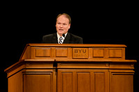Devotional speaker, Elder Marcus B. Nash, speaks to BYU-Idaho students