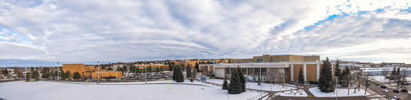 A panoramic view from on top of the BYUI stadium.