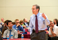 Alan Wilkins, Director of the Faculty Center at BYU gives a presentation during a faculty luncheon.