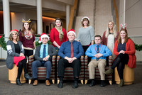 Support Center Student Employees Christmas Card. Dec 2017