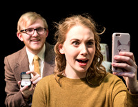 Promotional photos of the opera The Telephone. Directed by Richard Clifford and David Olsen.