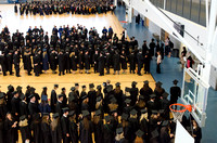 Graduating students from the 2014 Spring Semster gather in the I-Center for commencement. Photo by Tyler Rickenbach