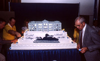 The Centennial cake to celebrate 100 Years of Ricks College. 1888-1988. November 1988.