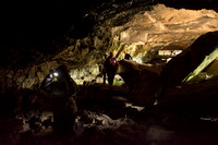 Students go to the Civil Defense Caves as an activity at the BYU-Idaho Outdoor Activities program.
