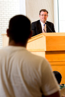 President Gilbert hosted a Q&A session for the Student Body in the Taylor Chapel.
