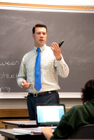 Scott Martin, Visiting Faculty in the Psychology department, teaches students in the psychology department.