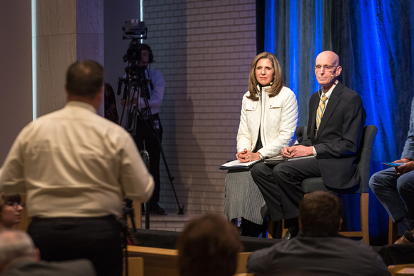 President and Sister Eyring hold a Q&A in the Taylor chapel and answer the questions of students who are present, as well as online.