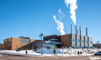 The Central Energy Facility in winter.