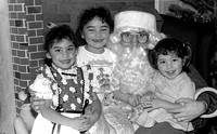 Christmas Tree Lane, Children with Santa, 1991 Mike Lewis' girls, Janae, Selena and Alana
