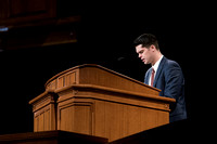 BYU-Idaho Devotional. Student offering the closing prayer. Feb 2018