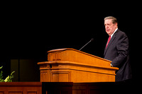Elder Holland speaks in the BYU-Idaho iCenter about living after the manner of happiness during Tuesday's Devotional.
