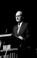 Elder Russell M. Nelson speaks to students at Ricks College during devotional