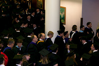 Students are welcomed into the I-Center for the Commencement Ceremony.