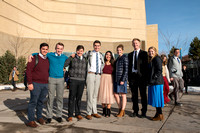 Students leaving the BYU-Idaho Center after devotional.
