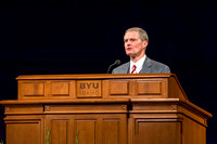 Elder David A. Bednar speaks to students at Brigham Young University-Idaho for devotional. Photo by Ryan Chase