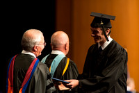 Graduates of the College of Agriculture and LIfe Sciences receive their diplomas.