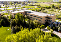 Drone aerials of BYU-Idaho campus.
