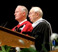 President Gordon B. Hinckley participates in the inauguration of Pres Kim B Clark.