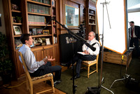 Henry Christian Eyring being interviewed. Behind the scenes. Sept 2017
