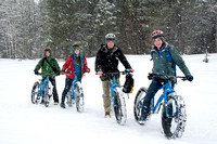 BYU-Idaho Outdoors Activities sponsored travel to Mesa Falls to fat tire bike. Mar 2018